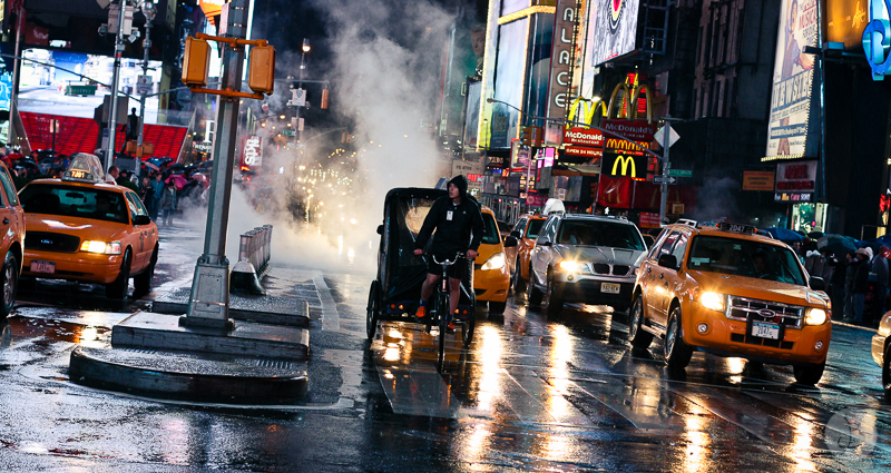 This is a photograph of the 'Street life in NYC' article!